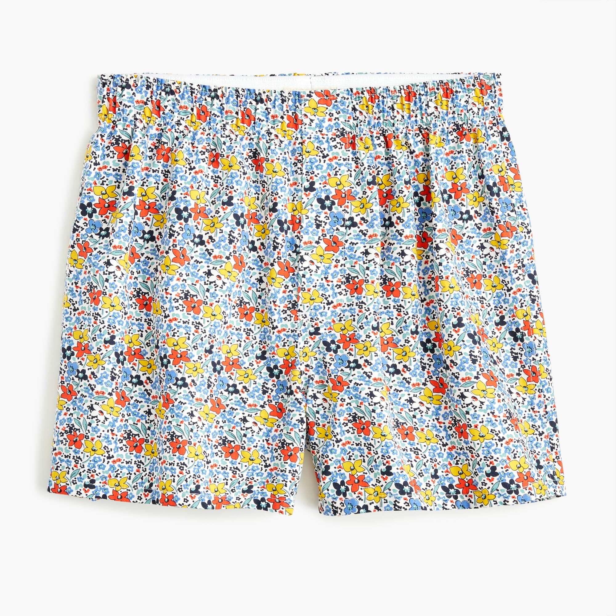 mens Boxers in blue floral print