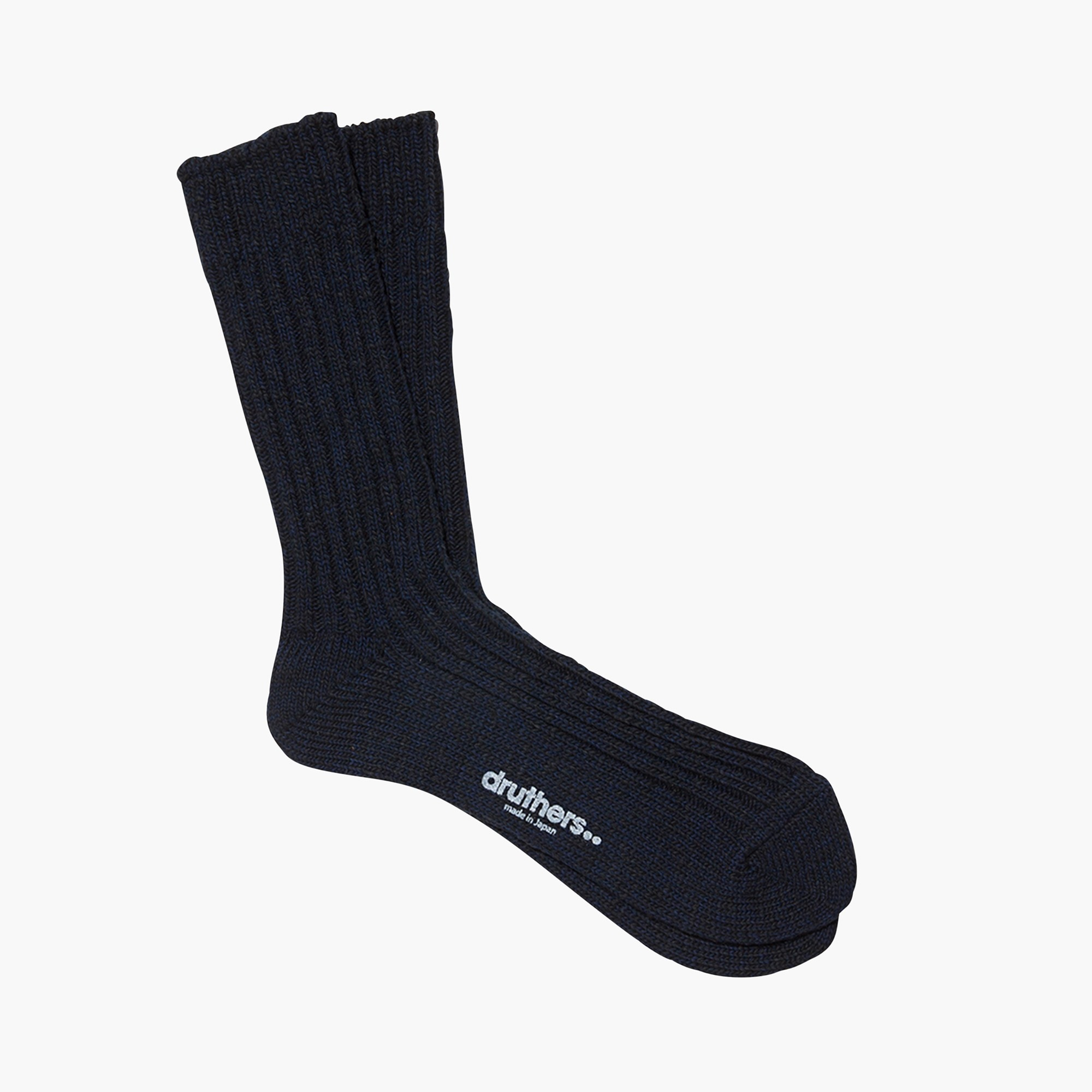 mens Druthers™ black slub crew socks