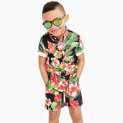 925795895b boys Boys' swim trunk in Aloha floral with UPF ...