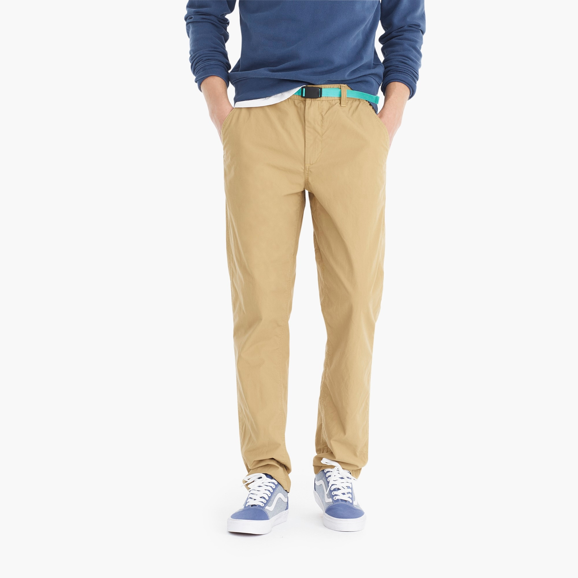mens Belted chino in cotton canvas