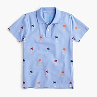 Boys' polo in palm trees