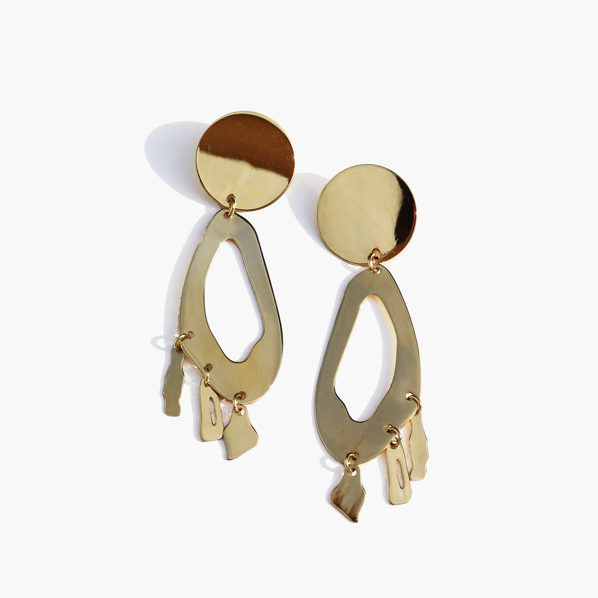 womens Modern Weaving™ lobe chandelier earrings