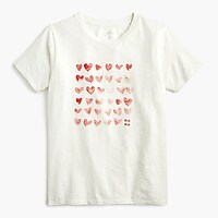 """Mother's Day hearts"" crewneck T-shirt"