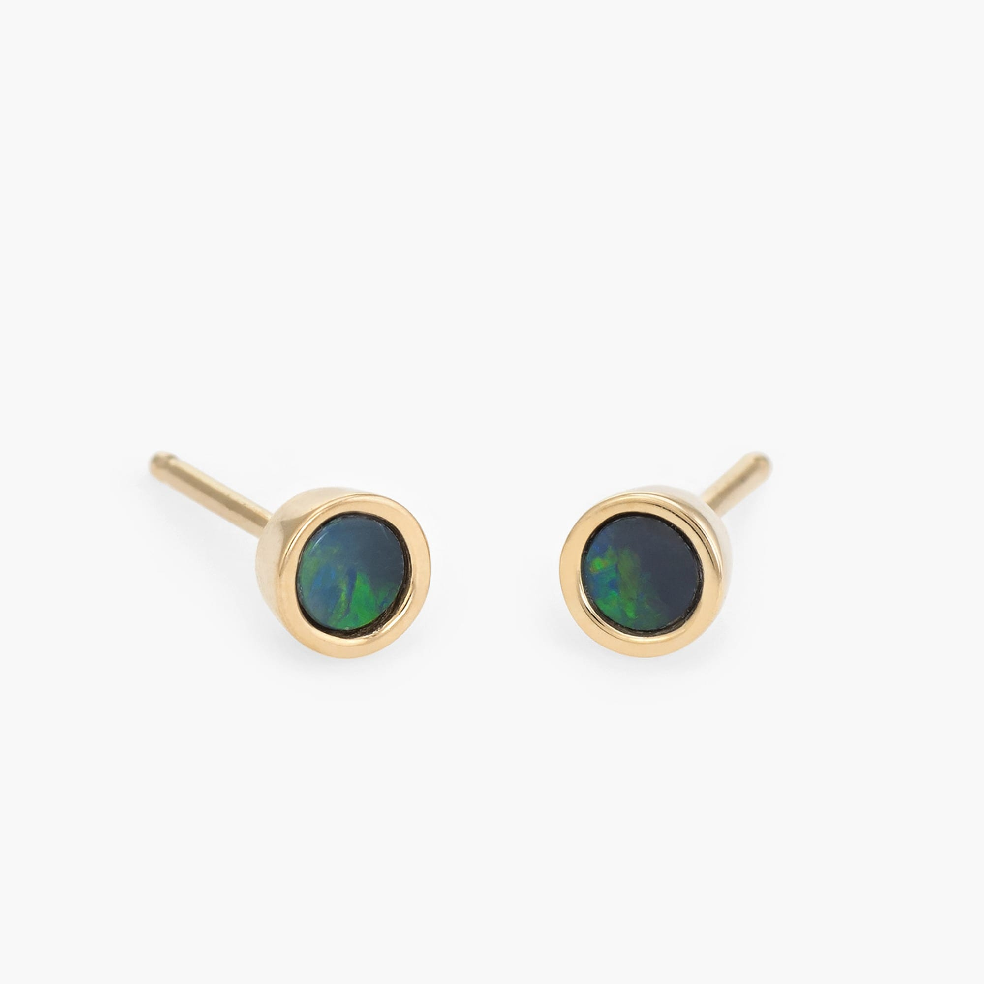 womens Dream Collective™ tiny dot studs in blue opal