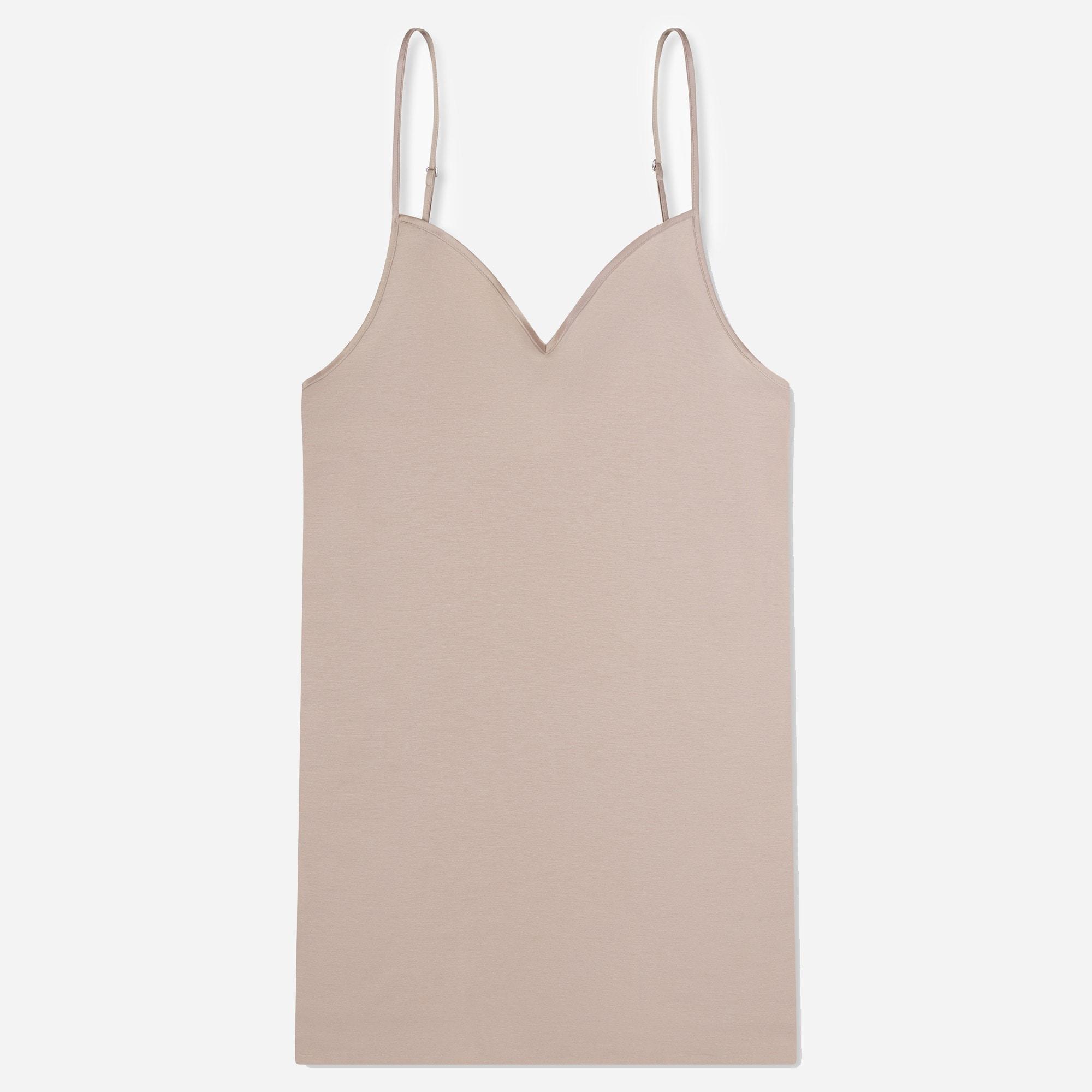 womens HANRO® cotton seamless V-neck camisole