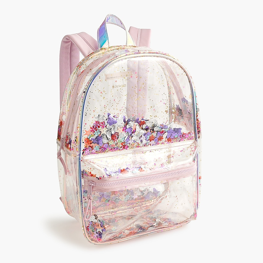 j.crew: girls' sequin shake-up backpack for girls, right side, view zoomed