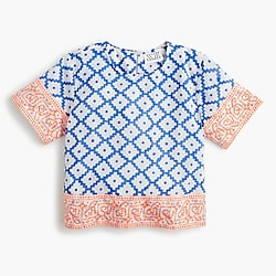 Girls' SZ Blockprints™ for crewcuts top